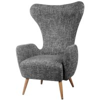 Eccles Fabric Wing back Chair by Corrigan Studio