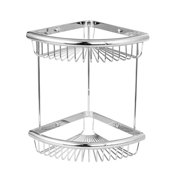 Bilger Wall Mount Double Corner Wire Shower Caddy by Rebrilliant