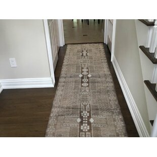 One-of-a-Kind Eakins Vintage Hand-Knotted 2'6 x 7'10 Wool Natural Area Rug by World Menagerie