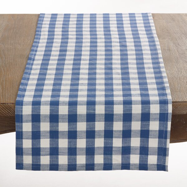 Gingham Table Runner by Saro