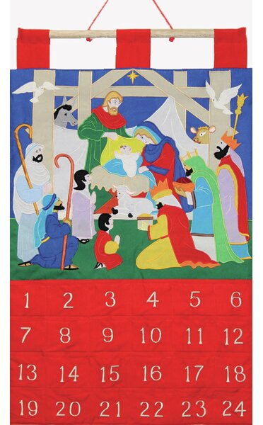Alleluia Fabric Advent Calendar by The Holiday Aisle