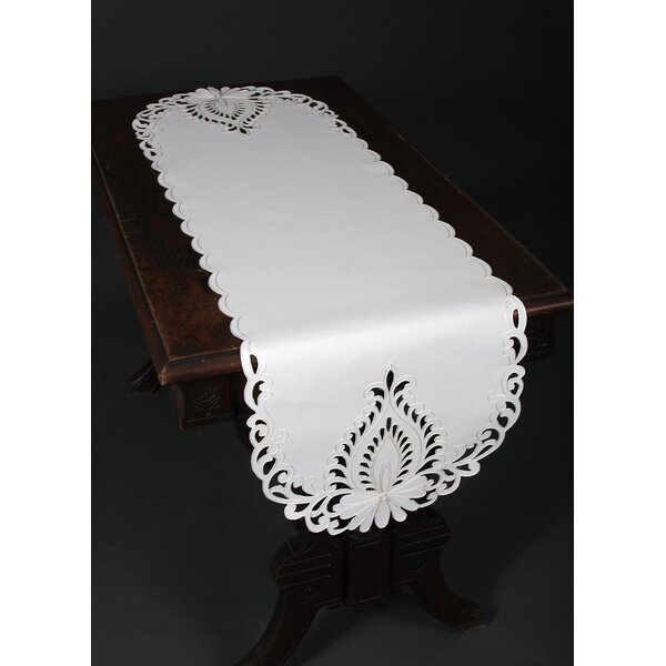 Armadillo Embroidered Cutwork Table Runner by Astoria Grand