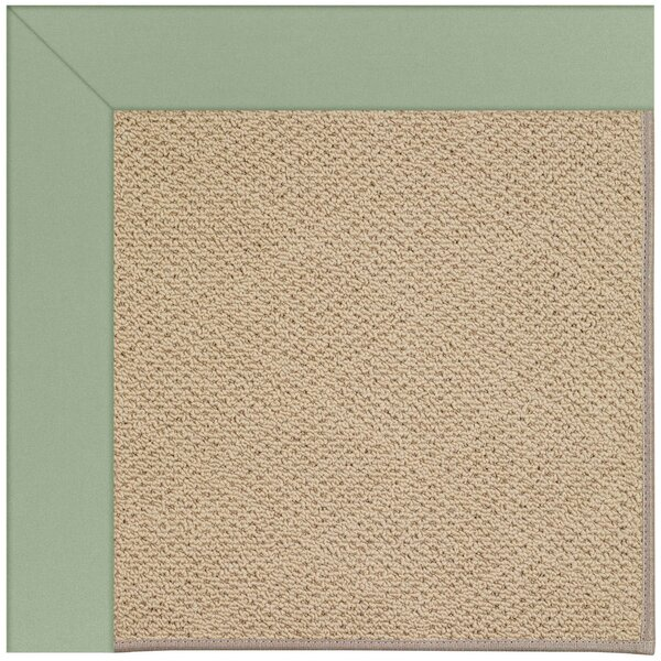 Lisle Machine Tufted Light Jade and Beige Indoor/Outdoor Area Rug by Longshore Tides