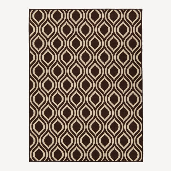 Rose Brown Area Rug by Berrnour Home