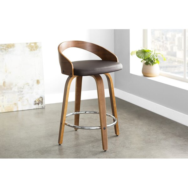 Wright 24.25 Swivel Bar Stool by Langley Street