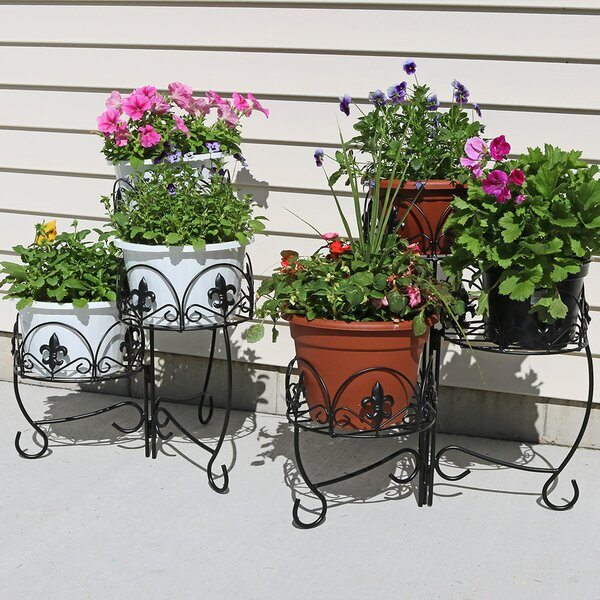 Ludgershall French Lily Design 3-Tiered Indoor/Outdoor Plant Stand Set (Set of 2) by Fleur De Lis Living| @ $104.95