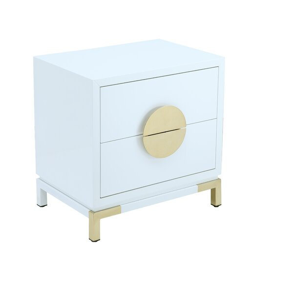 Lasseter 2 Drawer Nightstand by Everly Quinn
