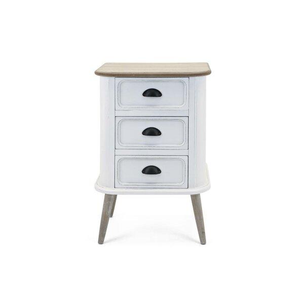 Burdette Desirable 3 Drawer Nightstand in White by Gracie Oaks Gracie Oaks