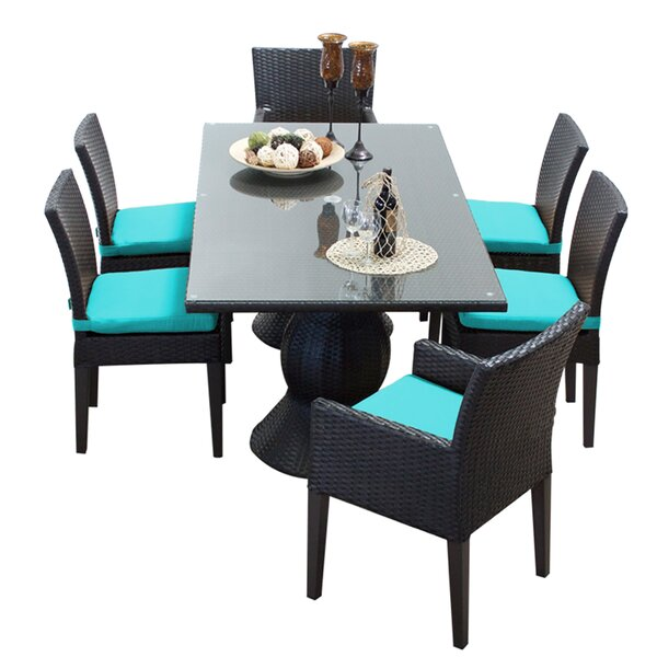 Napa 7 Piece Dining Set with Cushions by TK Classics