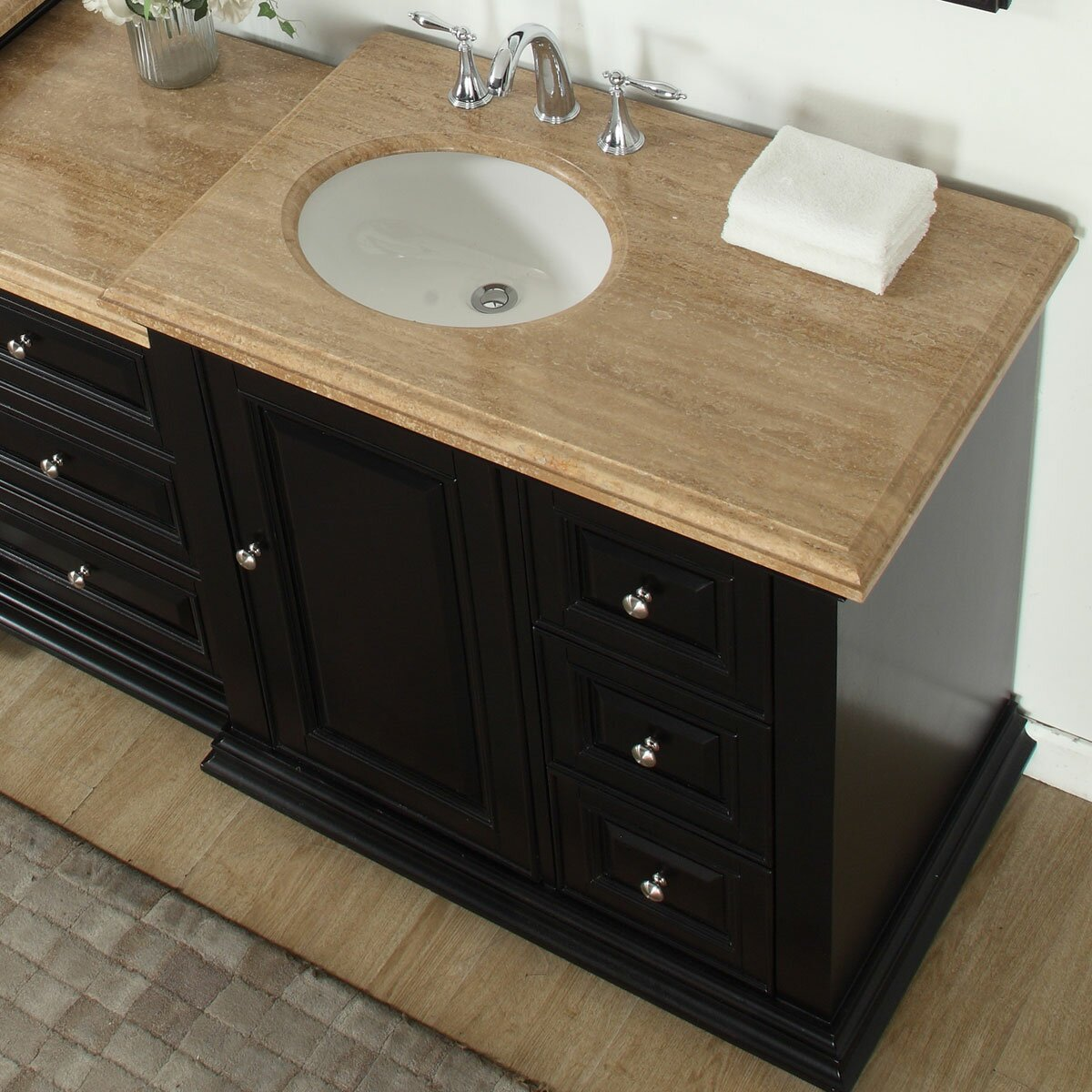 Silkroad Exclusive 56 Single Bathroom Modular Vanity Set With Sink On Left Side Wayfair