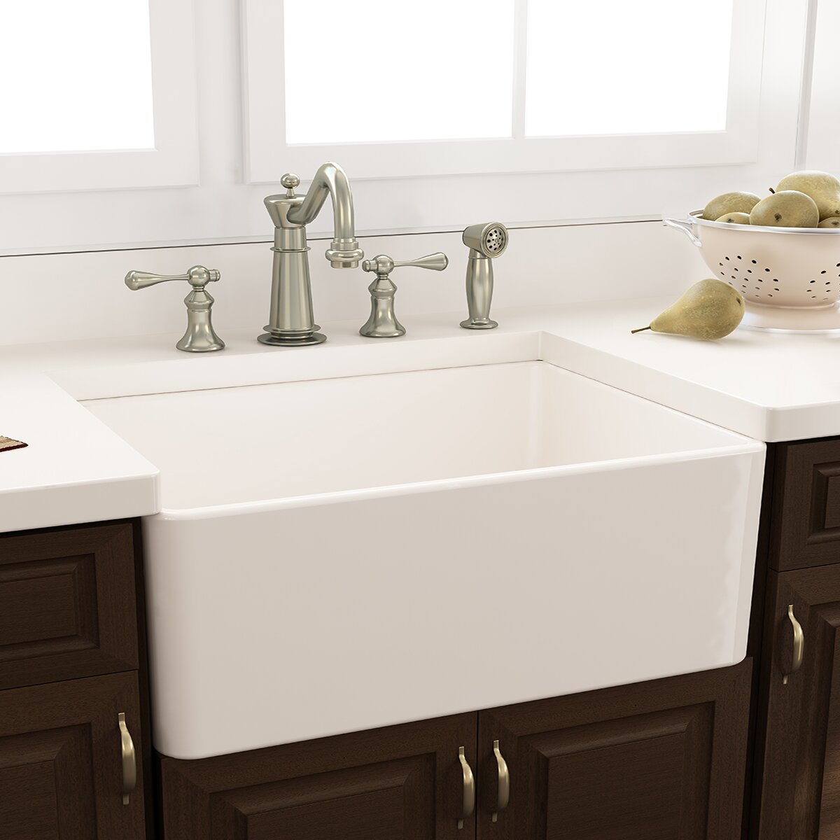 nantucket sinks cape 3025 x 18 kitchen sink with grid and drain reviews wayfair - Kitchen Sinks Pictures