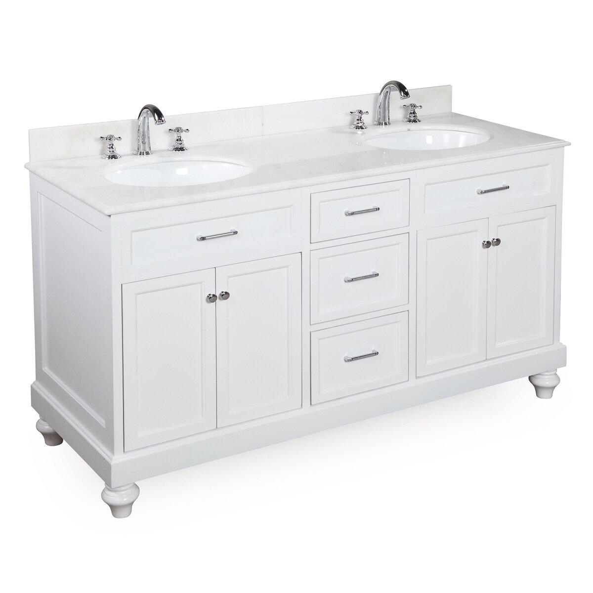 kbc amelia 60 double bathroom vanity set reviews wayfair. Black Bedroom Furniture Sets. Home Design Ideas