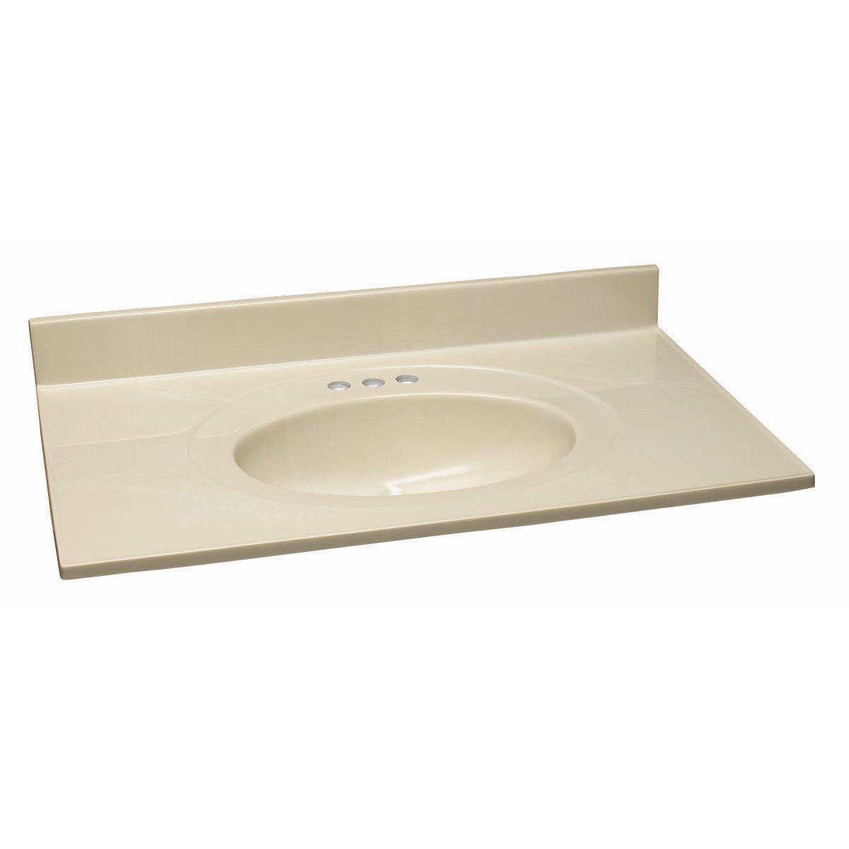"Design House Ventura 37"" Bathroom Vanity Base and Granite Top Set &"