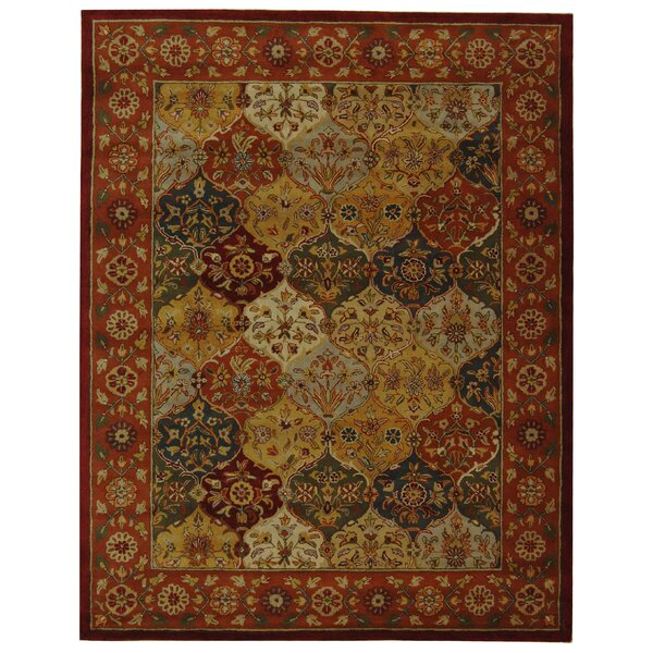 Balthrop Red Wool Hand Tufted Area Rug by Astoria Grand