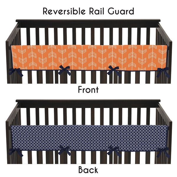Arrow Long Crib Rail Guard Cover by Sweet Jojo Designs