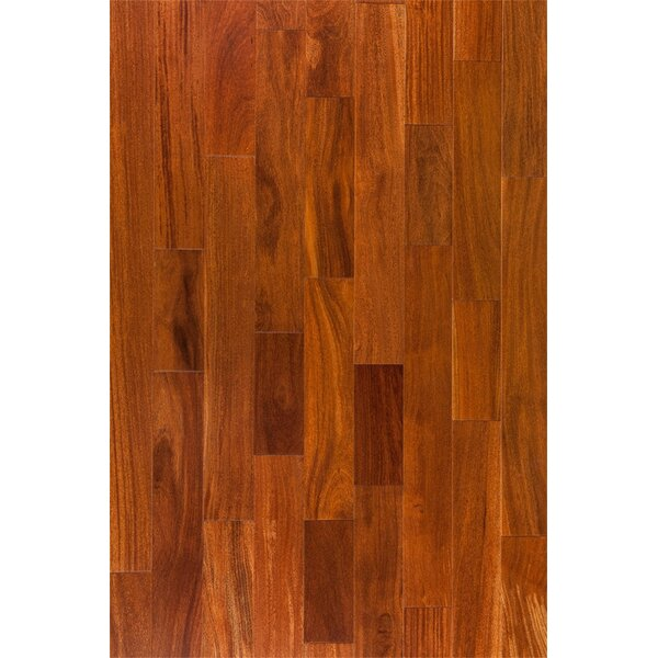 Ashton 5 Solid Teak Hardwood Flooring in Cappuccino by Welles Hardwood