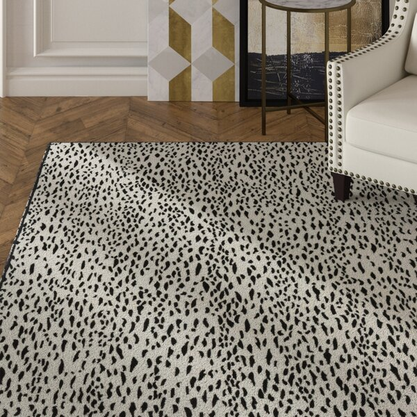 Ankit Contemporary Hand Tufted Black Area Rug by Everly Quinn