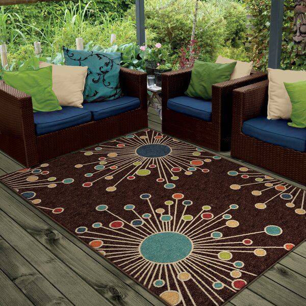 Rahn Brown Indoor/Outdoor Area Rug by Wrought Studio