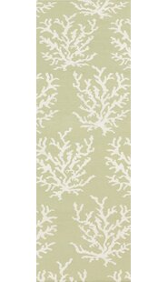 Best Reviews Boardwalk Hand-Woven Wool Lime/White Area Rug BySomerset Bay