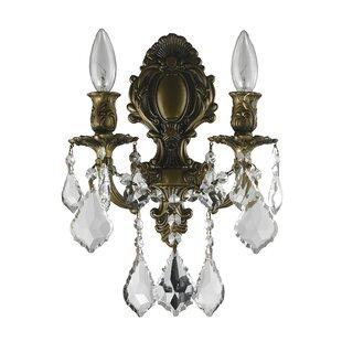 Best Reviews Weisser 2-Light Candle Wall Light By Astoria Grand