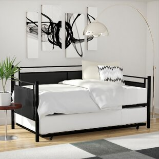 daybed with trundle. Petaluma Metal And Upholstered Daybed With Trundle .