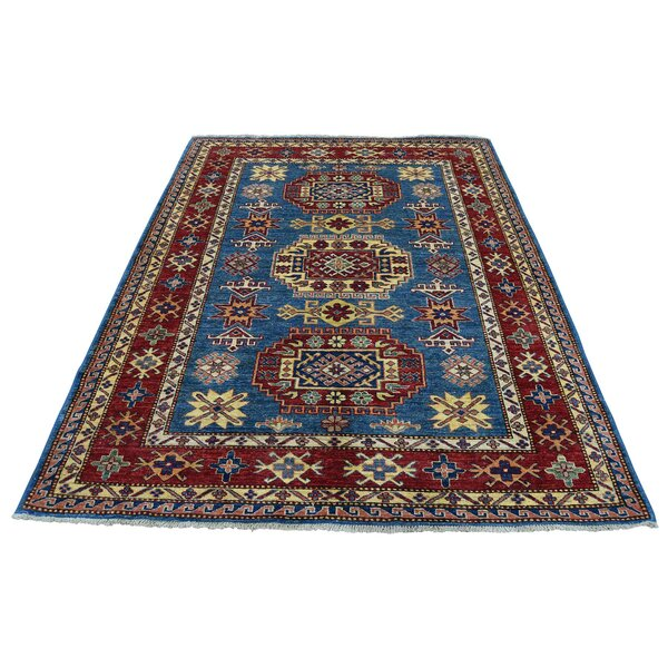 One-of-a-Kind Espada Super Denim Oriental Hand-Knotted Blue Area Rug by Millwood Pines
