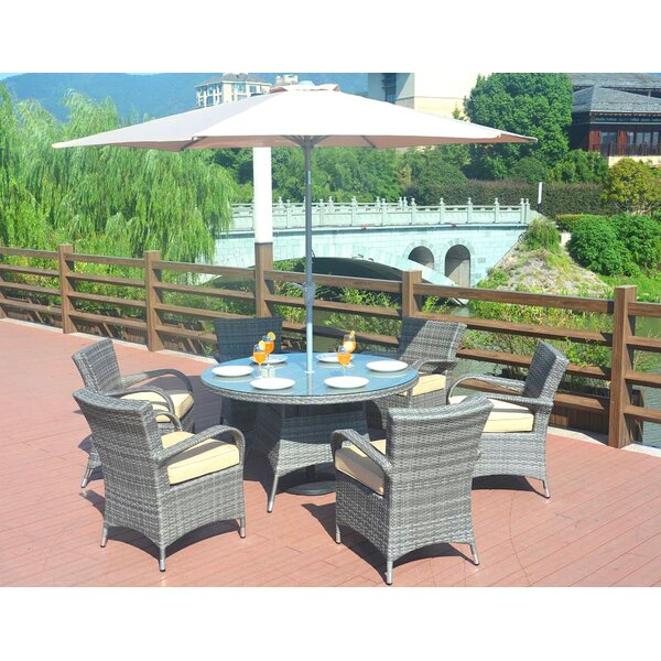 Anntonette 7 Piece Dining Set with Cushions by Latitude Run