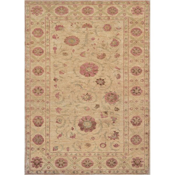 One-of-a-Kind High Quality Handwoven Wool Ivory Indoor Area Rug by Mansour