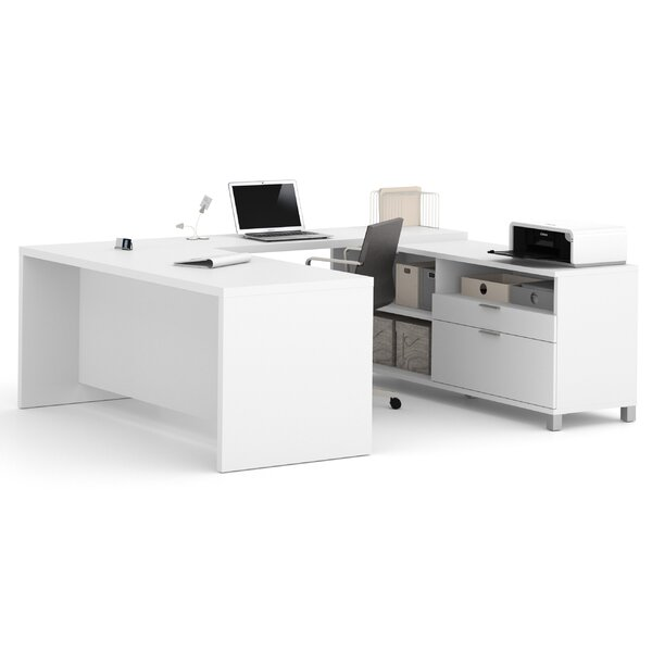 Ariana 3-Piece U-Shape Desk Office Suite by Mercury Row