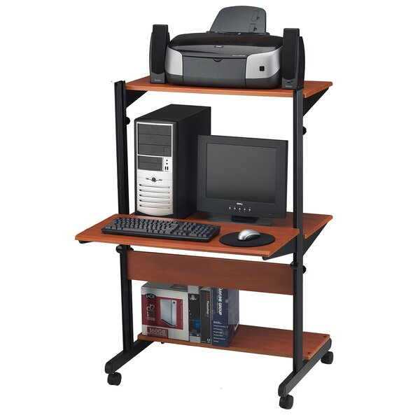 SOHO Adjustable Computer Table AV Cart by Mayline Group