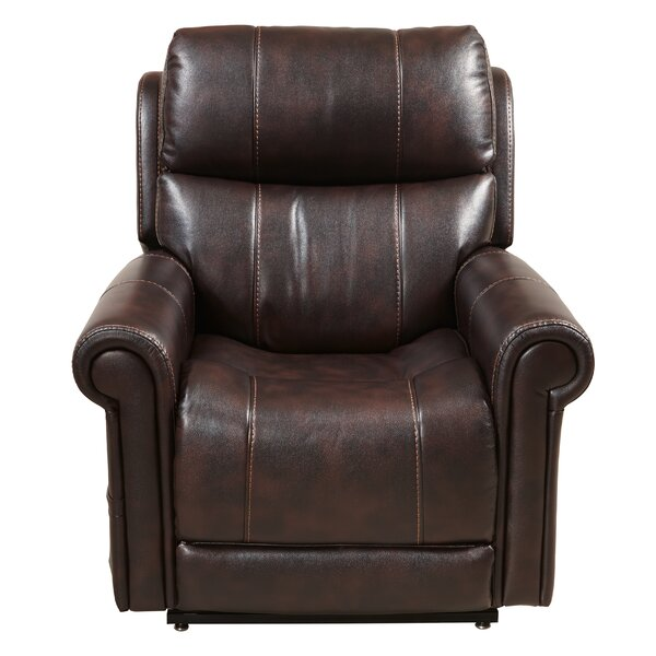 Evins Leather Recliner by Red Barrel Studio