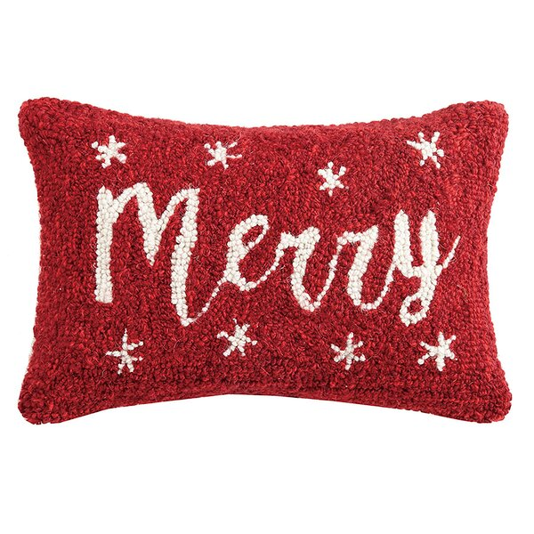 Merry Hook Wool Lumbar Pillow by The Holiday Aisle
