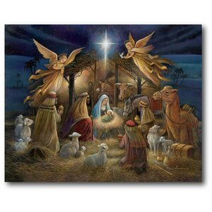 'Nativity' Graphic Art Print on Canvas by The Holiday Aisle