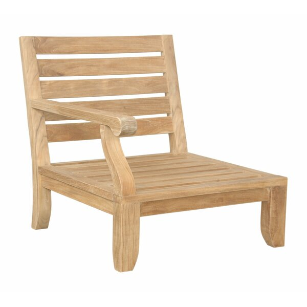 Riviera Luxe Teak Right Arm Patio Chair with Sunbrella Cushions by Anderson Teak