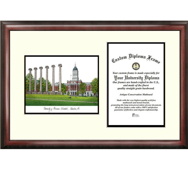 NCAA University of Missouri Scholar Diploma Picture Frame by Campus Images