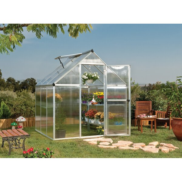 Mythos 6 ft. W x 6 ft. D Greenhouse by Palram