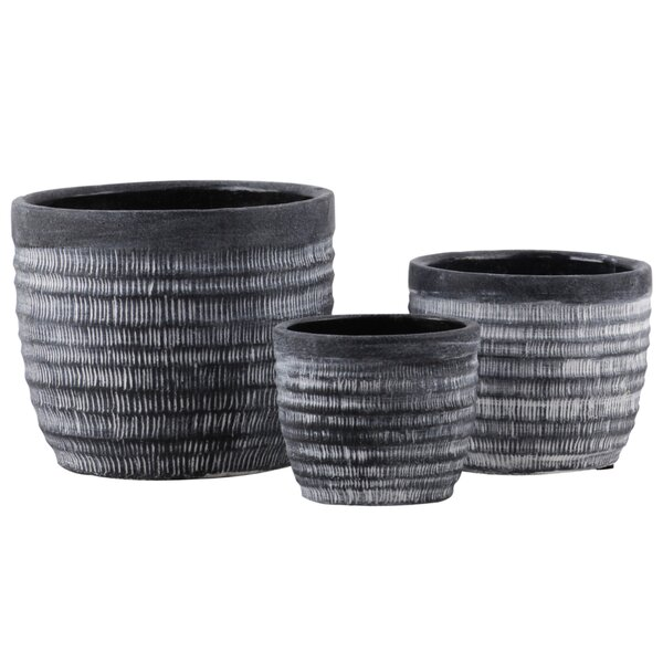 Wechsler Round 3-Piece Cement Pot Planter Set by Gracie Oaks