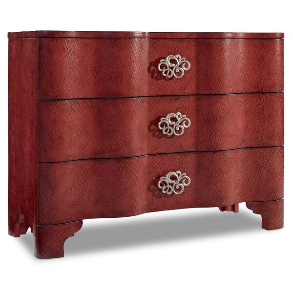 Melange Saffron Crackle 3 Drawer Accent Chest by Hooker Furniture