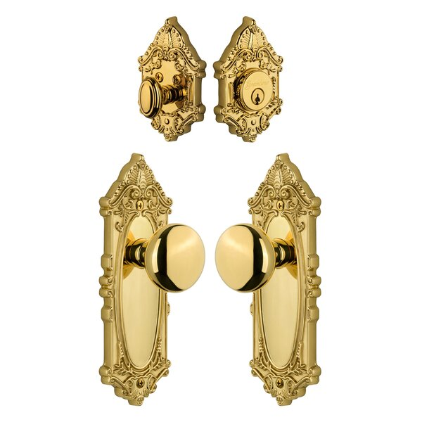 Grande Victorian Keyed Door Knob by Grandeur