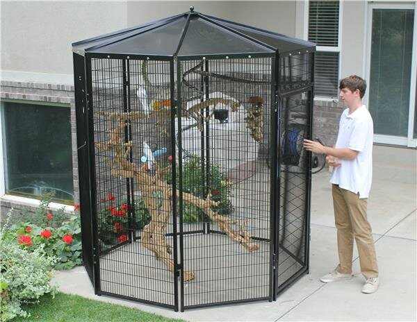8 Sided Bird Aviary by K9 Kennel