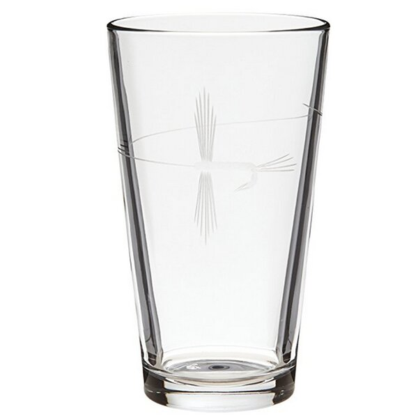 Fly Fishing16 oz. Beer Glass (Set of 4) by Rolf Glass