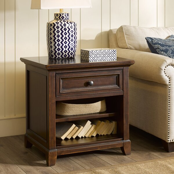 Montclair End Table with Storage by Harbor House