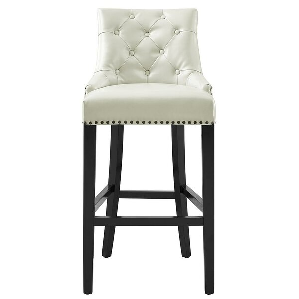 Adneta 30.9 Leather Upholstery Bar Stool by Willa Arlo Interiors