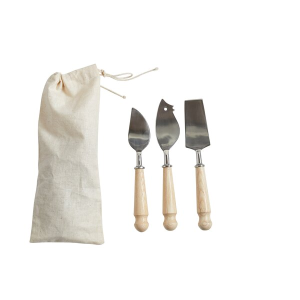 3 Piece Stainless Steel Cheese Knife Set by Creative Co-Op