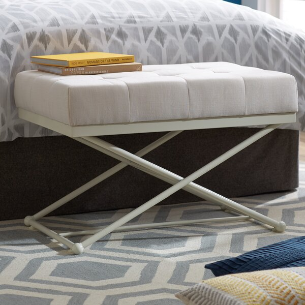 Morin Upholstered Bench by Mercury Row