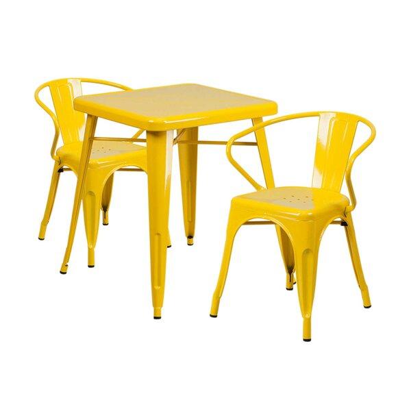 Arpita Indoor and Outdoor 3 Piece Bistro Set by Ebern Designs