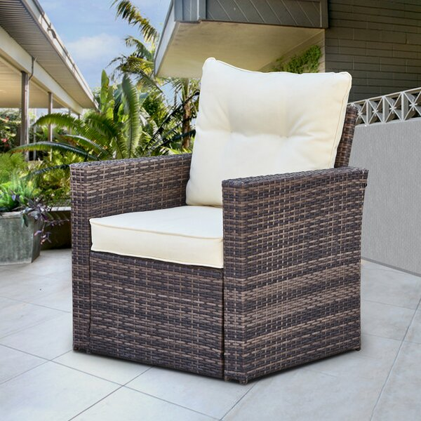 Milardo Patio Dining Chair with Cushion by Latitude Run