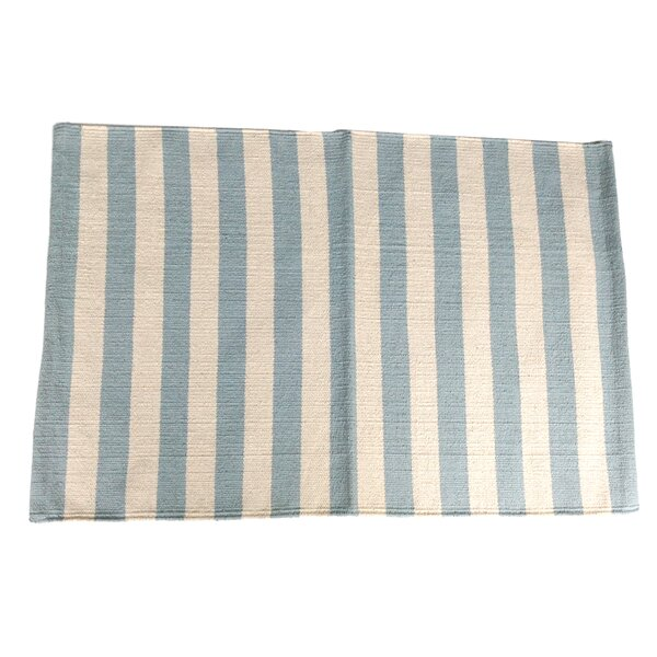 Narrow Stripe Metal Area Rug by Artim Home Textile