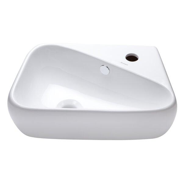 Ceramic 18 Wall Mount Bathroom Sink by Elanti
