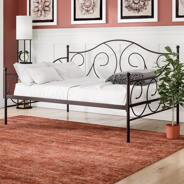 Yolanda Metal Scroll Daybed by Winston Porter